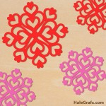 FREE Valentine's Day Hearts Snowflake SVG File