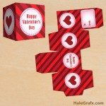 FREE Printable Valentine's Day Striped Treat Box