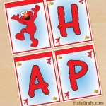 FREE Printable Elmo Sesame Street Birthday Banner