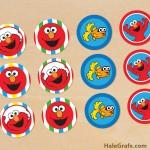 FREE Printable Elmo Sesame Street Cupcake Toppers