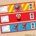 FREE Printable Elmo Sesame Street Water Bottle Labels