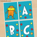 FREE Printable Dr. Seuss Lorax Alphabet Banner Pack