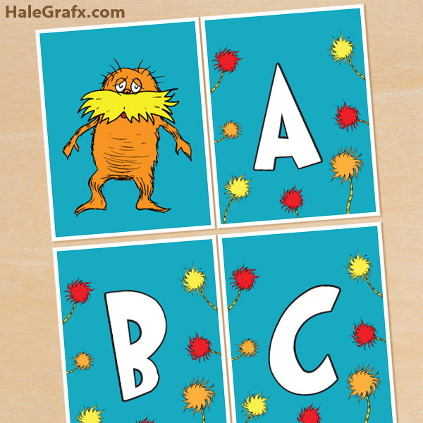 photo about Dr Seuss Letters Printable identify Free of charge Printable Dr. Seuss Lorax Alphabet Banner Pack