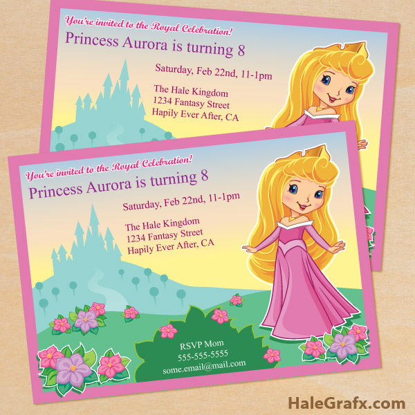 FREE Printable Princess Birthday Invitation