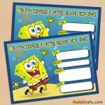 FREE Printable Spongebob Squarepants Birthday Invitation