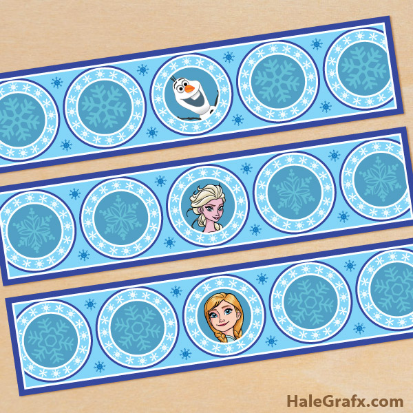 FREE Printable Frozen Water Bottle Labels