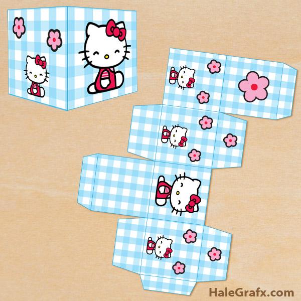 hello kitty treat box FREE Printable Hello Kitty Treat Box