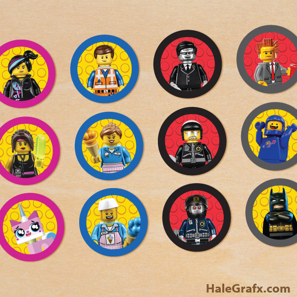 Printable LEGO Movie Cupcake Toppers