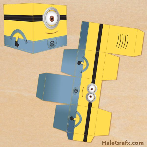 graphic regarding Minion Template Printable referred to as Cost-free Printable Despicable Me Minion Address Box