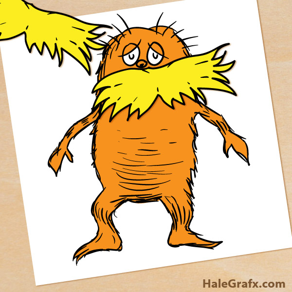 picture regarding Lorax Printable known as No cost Printable Pin the Mustache upon the Lorax
