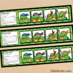 FREE Printable Retro TMNT Ninja Turtle Water Bottle Labels