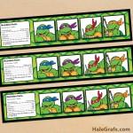 FREE Printable Retro TMNT Ninja Turtle Water Bottle Labels