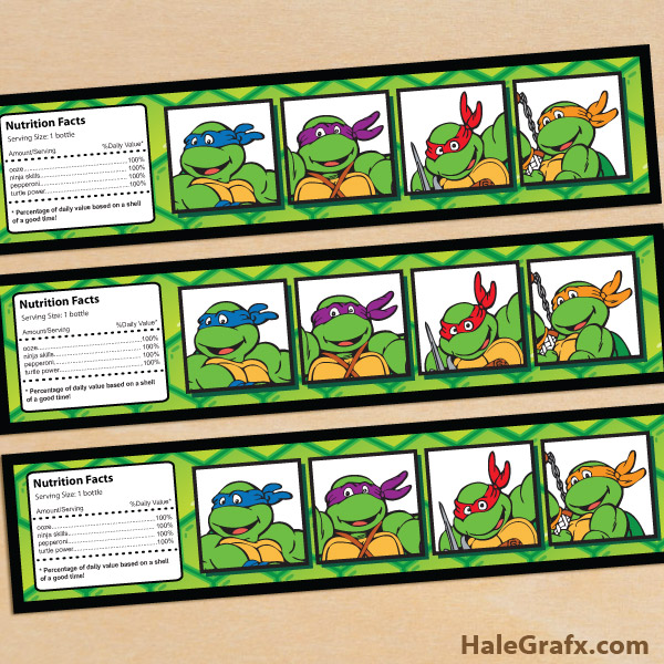 free printable retro tmnt ninja turtle birthday invitation, Party invitations