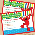 FREE Printable Sesame Street Elmo Birthday Invitation