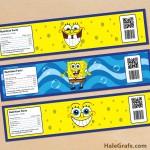 FREE Printable Spongebob Squarepants Water Bottle Labels