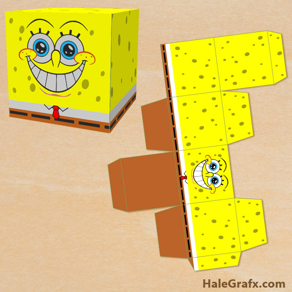 picture relating to Spongebob Printable named Totally free Printable Spongebob Squarepants Take care of Box
