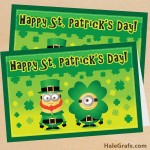 FREE Printable Despicable Me St. Patrick's Day Minion Card