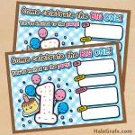 FREE Printable Kawaii First Birthday Invitation