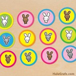 FREE Printable Kawaii Easter Bunny Cupcake Toppers