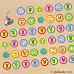 FREE Printable Easter Bunny Hershey's Kisses Stickers