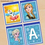 FREE Printable Frozen Alphabet and Birthday Banner Pack