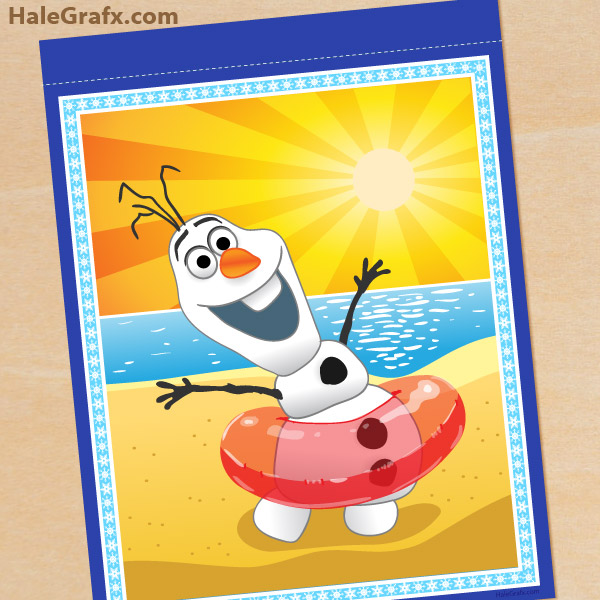FREE Printable Frozen Banner Pack - Olaf in Summer Spacer