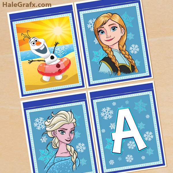 image about Frozen Banner Printable named Free of charge Printable Frozen Alphabet and Birthday Banner Pack