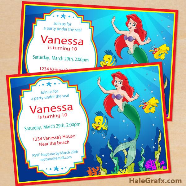 Printable disney little mermaid birthday invitation free printable disney little mermaid birthday invitation filmwisefo Gallery