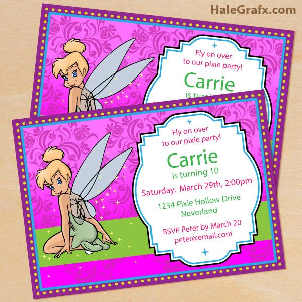 Printable Disney Tinkerbell Birthday Invitation – Tinkerbell Birthday Invitations