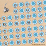 FREE Printable Frozen Hershey's Kisses Stickers