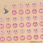 FREE Printable Girl Minion Hershey's Kisses Stickers