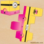 FREE Printable Despicable Me Girl Minion Treat Box
