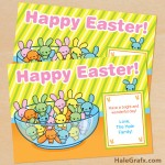 FREE Printable Easter Jelly Bean Bunny Card
