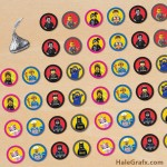 FREE Printable LEGO Movie Hershey's Kisses Stickers