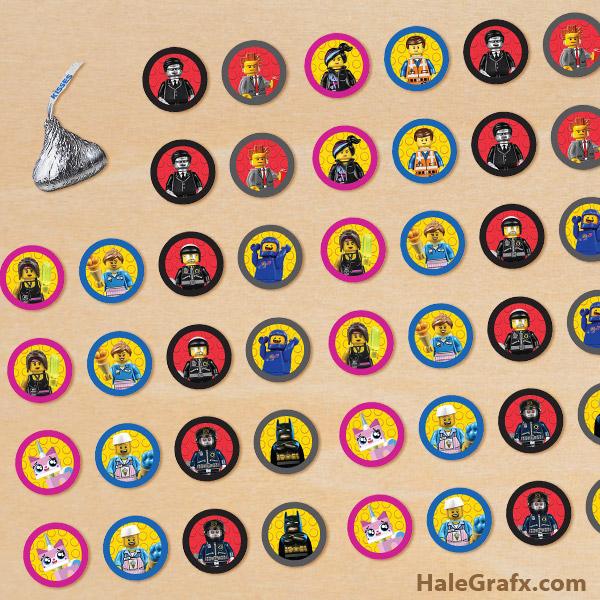 FREE Printable LEGO Movie Hershey's Kisses Stickers