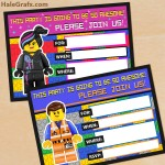 FREE Printable LEGO Movie Birthday Invitation Set