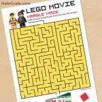 FREE Printable LEGO Movie Kragle Maze