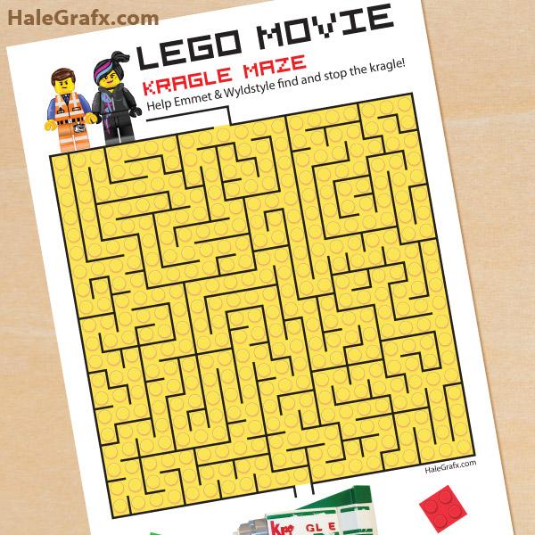 Lego Worksheets Printables : Free printable lego movie kragle maze