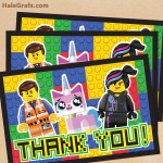 FREE Printable LEGO Movie Thank You Card