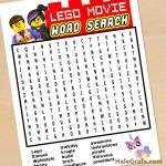 FREE Printable LEGO Movie Word Search