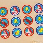 FREE Printable Disney Little Mermaid Cupcake Toppers