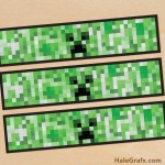 FREE Printable Minecraft Creeper Water Bottle Labels