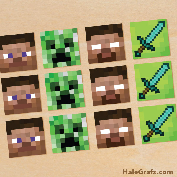 Superb image throughout printable minecraft cupcake toppers