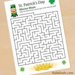 FREE Printable St. Patrick's Day Leprechaun Minion Maze