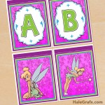 FREE Printable Tinkerbell Alphabet and Birthday Banner Pack