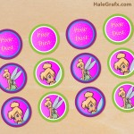 FREE Printable Disney Tinkerbell Cupcake Toppers