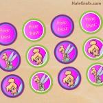 FREE Printable Disney Tinkerbell Cupcake Toppers