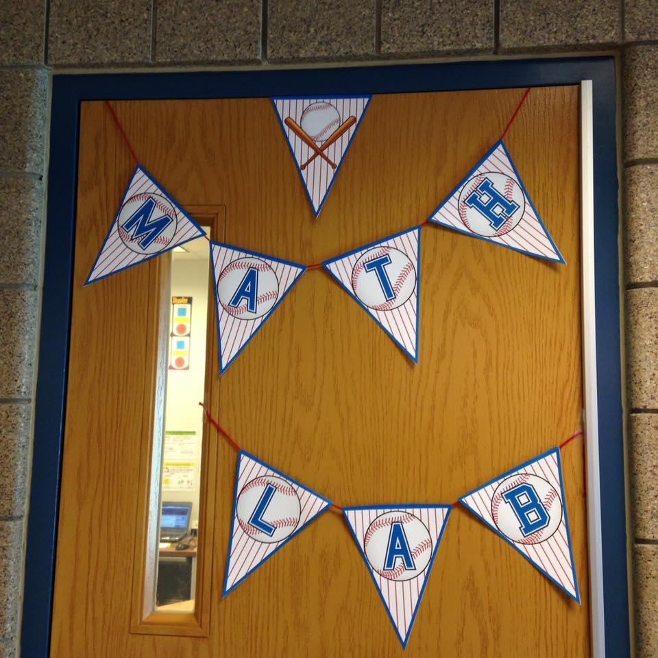 FREE Baseball Alphabet Banner Pack used on classroom door