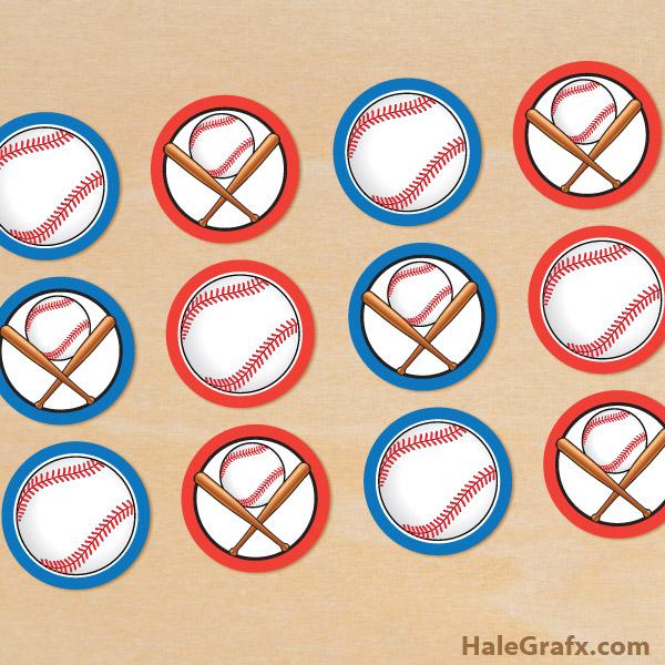 photograph about Free Printable Baseball Tags titled Cost-free Printable Baseball Cupcake Toppers