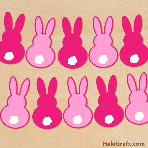 FREE Easter Bunny Banner SVG Pack